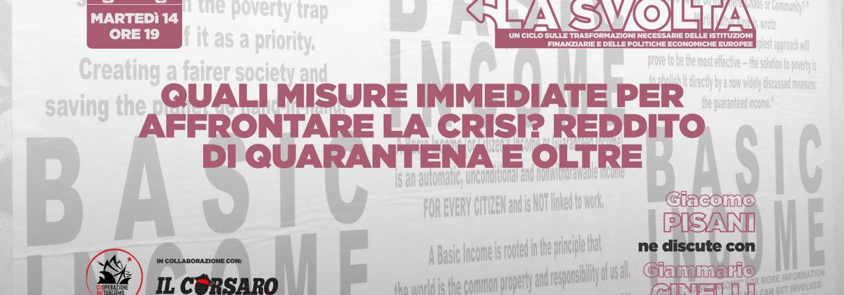 Reddito di quarantena, misure per affrontare la crisi