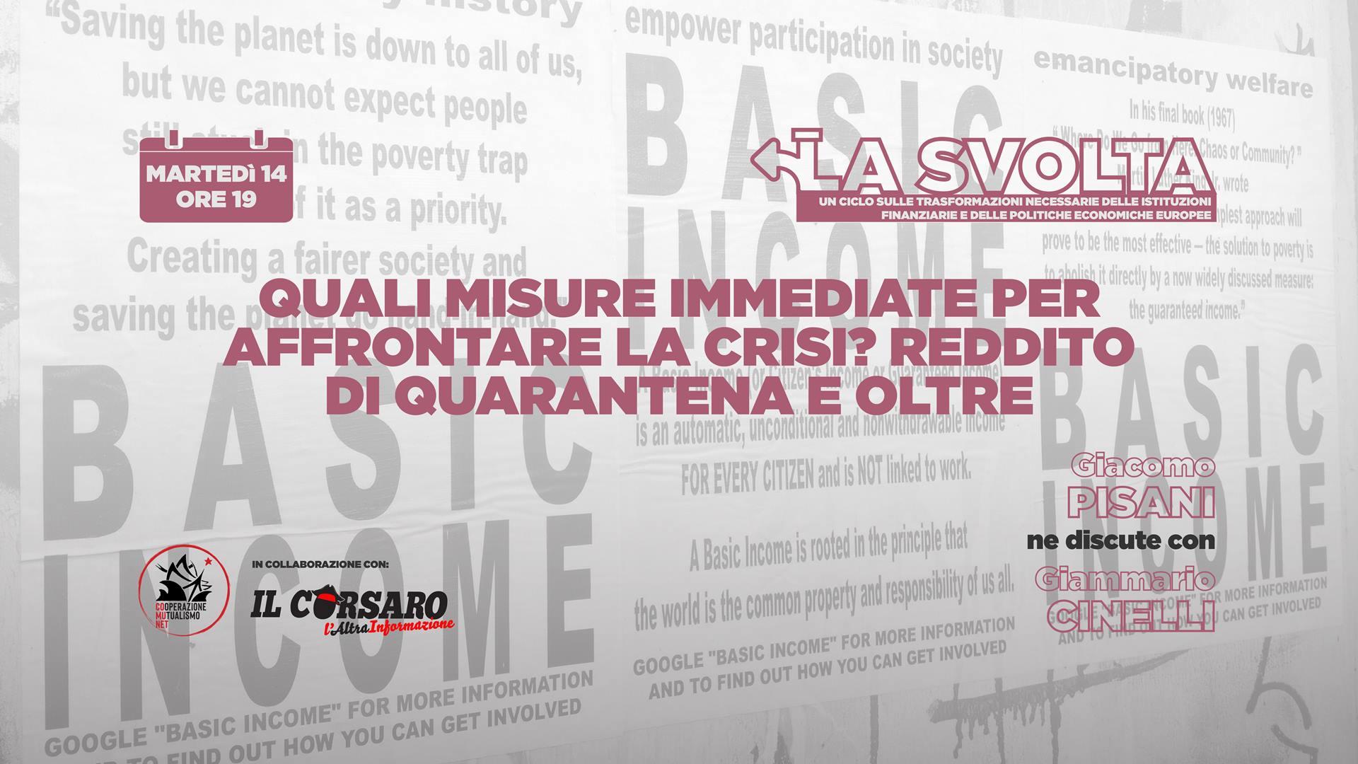 Misure immediate per la crisi: reddito di quarantena e oltre