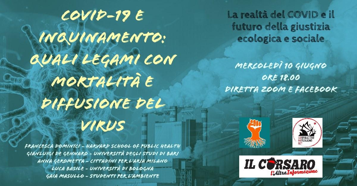 Covid-19 e inquinamento: legami con mortalità e diffusione