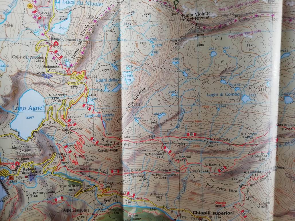 Mappa Colle del Nivolet